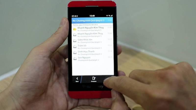 cách sử dụng BlackBerry Z10